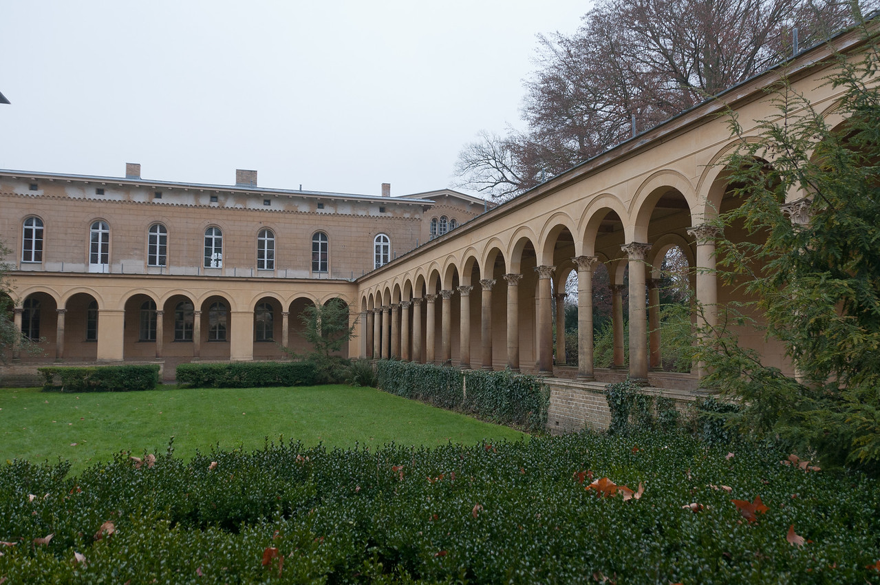 Covered pathwalk at Peace Church in Potsdam, Germany
