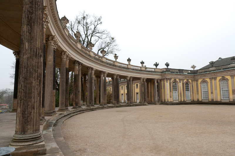 Pillars at Sanssouci Palace in Potsdam, Germany