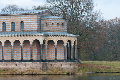 Beautiful building close to Lake Schwielowsee in Potsdam, Germany