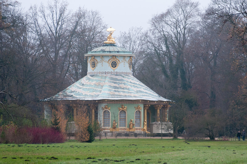 The Chinese Pavilion inside Sanssouci Park in Potsdam, Germany