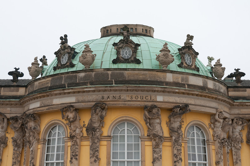 The blue dome at Sanssouci Palace in Potsdam, Germany