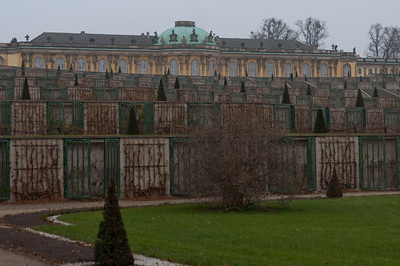 View of the Sanssouci Park in Potsdam, Germany