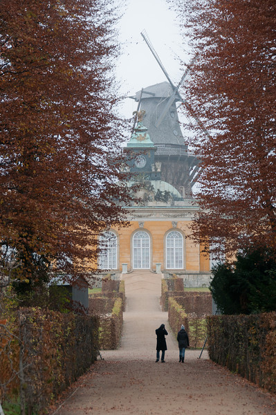 Neue Kammern and Windmill in Sanssouci Park - Potsdam, Germany