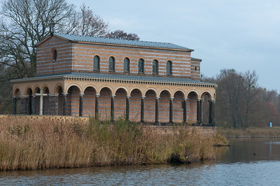 Building along Lake Schwielowsee in Potsdam, Germany
