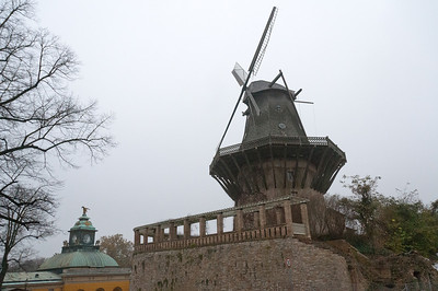 Historic Mill at Sanssouci Palace in Potsdam, Germany