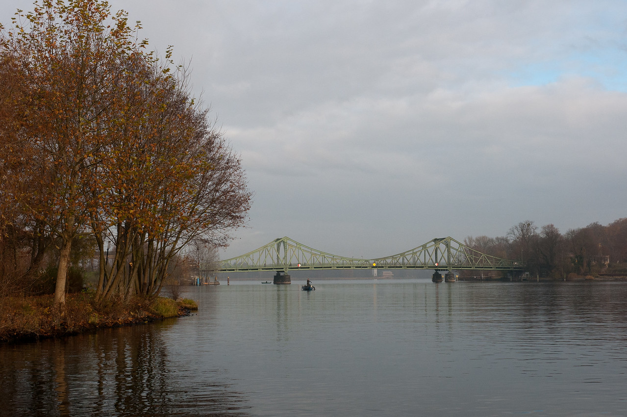 View of the Glienicke Bridge from the lake - Potsdam, Germany