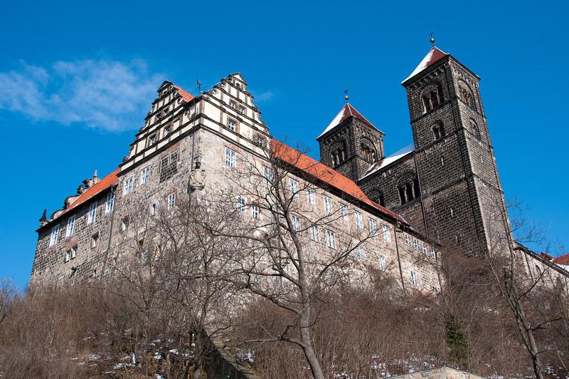 The Quedlinburg Abbey in Quedlinburg, Germany