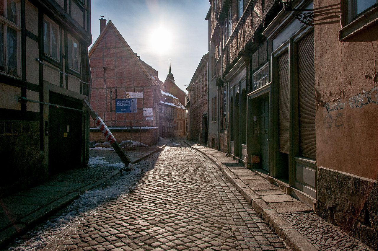 Street scene at Quedlinburg, Germany