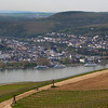 Rüdesheim Germany, View on Bingen from Cable Car