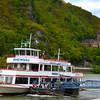 Rüdesheim Germany,  Assmannshausen, Rheinstein Castle & River Boat