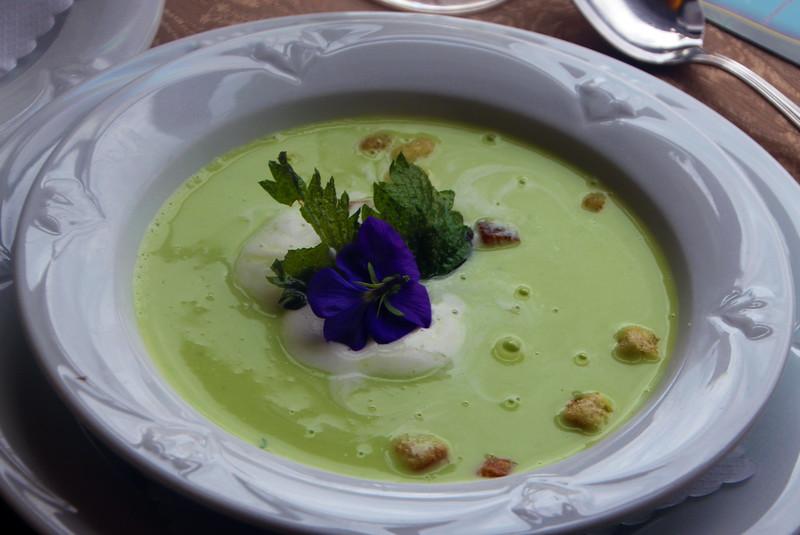 Rüdesheim Germany,  Assmannshausen, Restaurant Zwei Mohren, Herb Soup