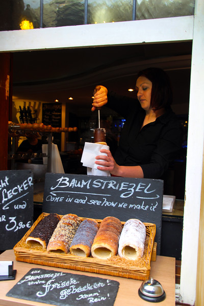 Rüdesheim Germany, Baumstriezel Cake Stand