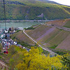 Rüdesheim Germany, Chair Lift from Jagdschloss Niederwaldhotel to Assmannshausen, View on Rhine River