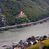 Rüdesheim Germany, View over Assmanshausen & Rheinstein Castle
