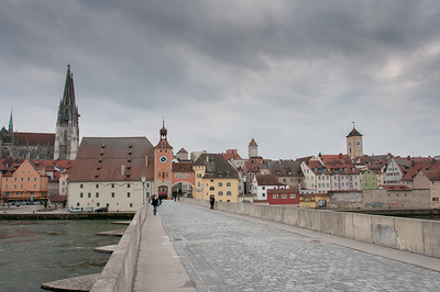 Steinerne Brücke in Regensburg, Germany