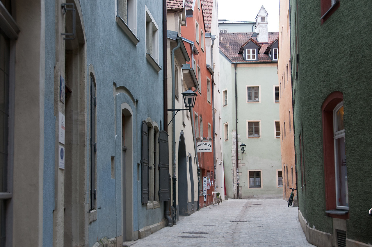 The streets of Regensburg, Germany