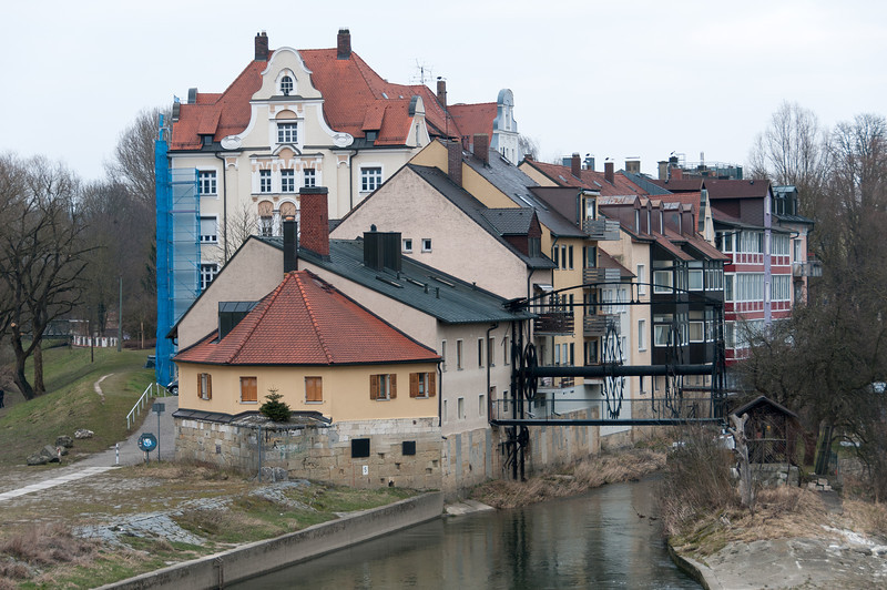 Houses and buildings at Regensburg, Germany