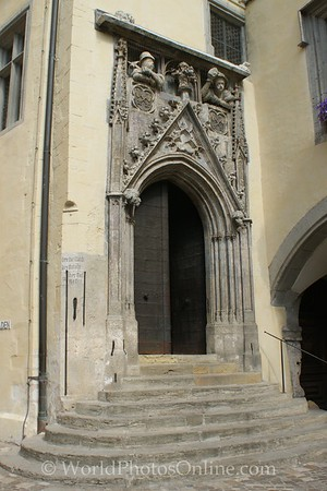Regensburg - Old Town Hall - Door with Merchant Measures