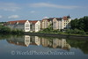 Regensburg - Apartment Buildings reflected in Danube River