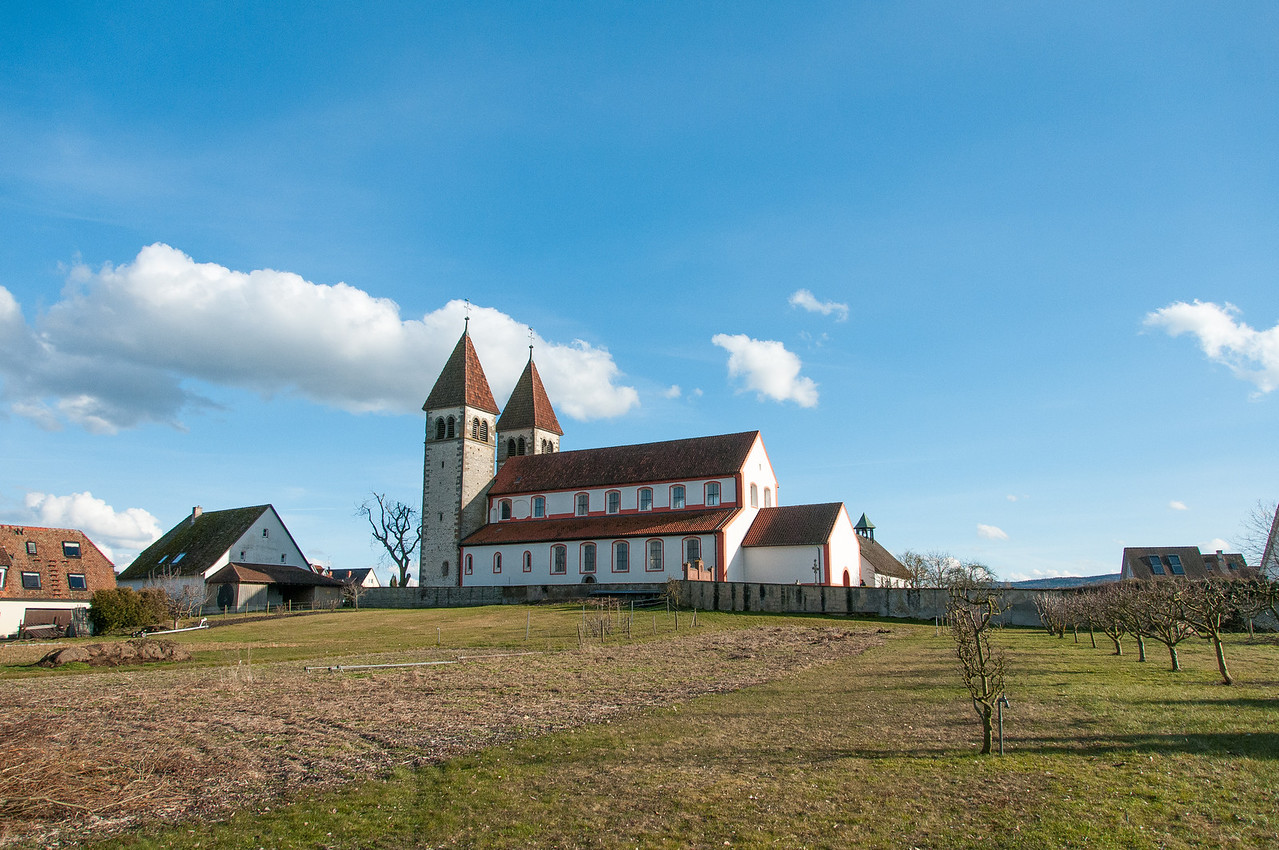 St. George's Church and surrounding landscape at Reichenau, Germany