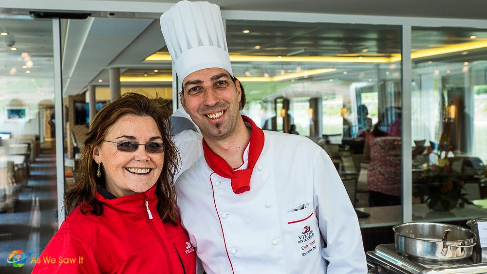 Posing with head chef from Viking Bragi.
