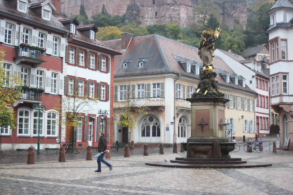 City Square and Fountain - Heidelberg, Germany - Photo