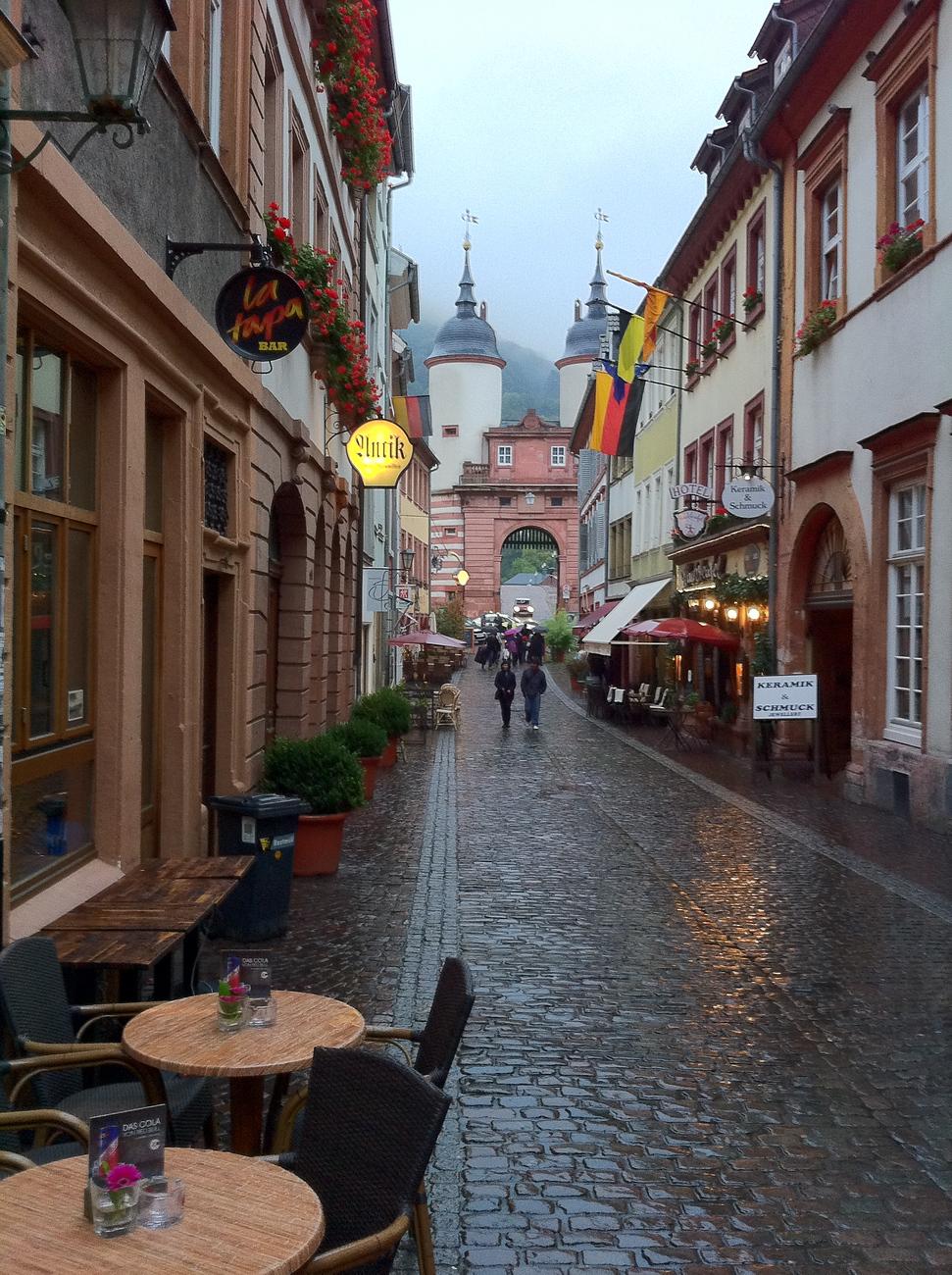 Cobblestones in the Rain - Heidelberg, Germany
