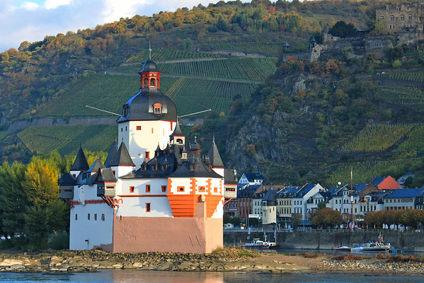 Pfalzgrafenstein Castle in the Rhine River Gorge