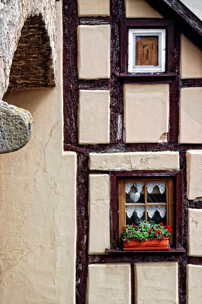 Rothenburg, Rothenburg ob der Tauber, Germany, Ansbach, Bavaria, Bayern, Ansbach District, Franconia, Mittlefranken, Window