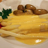 Rüdesheim Germany, Rüdesheimer Schloss Restaurant, White Asparagus with Hollandaise Sauce