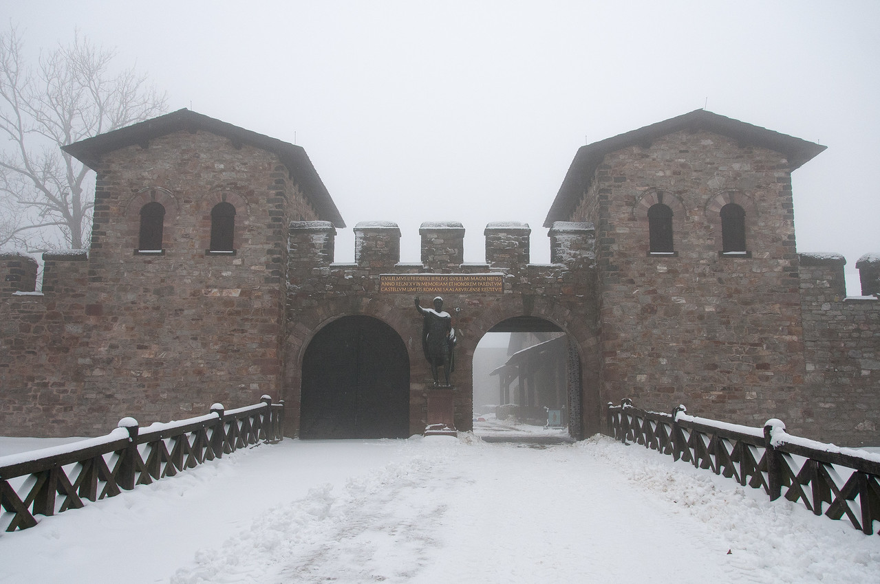 Entrance to the Saalburg Roman fort in Germany