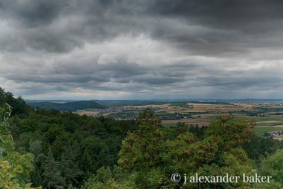 View from hill outside of Tübingen, Germany
