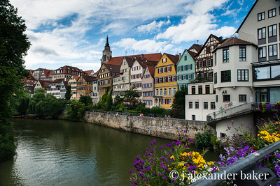 Neckar River in Tübingen, Germany