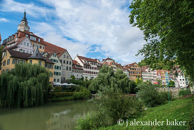 The Neckar River in Tubingen, German