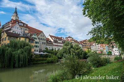 The Neckar River in Tubingen, German