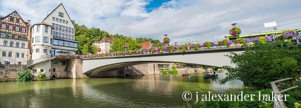 Bridge of Flowers over the Neckar River in Tübingen, Germany