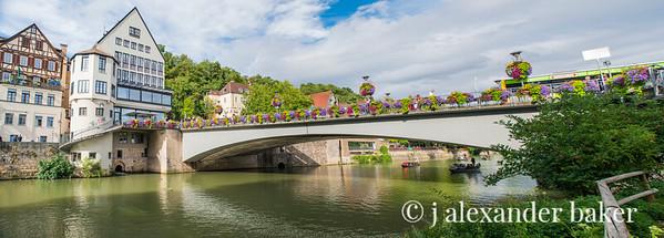 Bridge of Flowers over the Neckar River in Tübingen, Germany