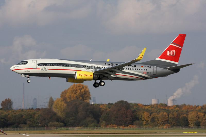 """D-ATUE Boeing 737-8K5 c/n 34685 Dusseldorf/EDDL/DUS 30-10-11 """"DB Air One"""""""