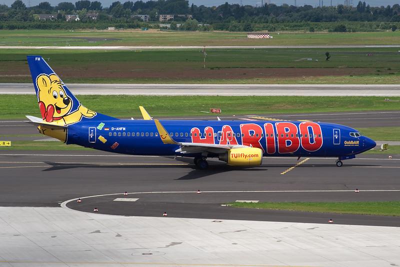 """D-AHFM Boeing 737-8K5 c/n 27986 Dusseldorf/EDDL/DUS 19-07-09 """"Haribo"""""""