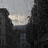 A rainy German town