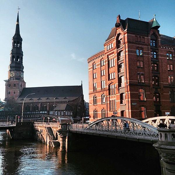 Hamburg, Germany in Spring Sunshine.