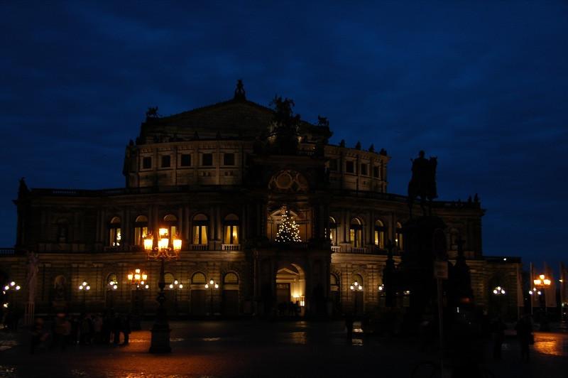 Semper Opera House at Night - Dresden, Germany