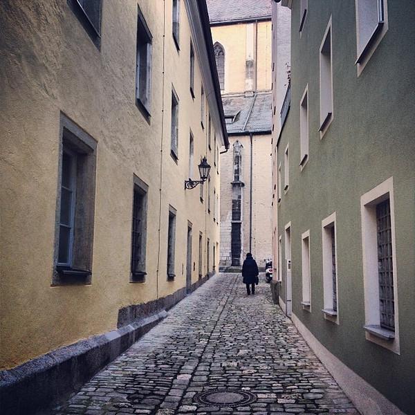 The back streets of Bavaria, old town Regensburg.