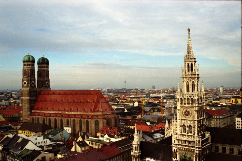 Frauenkirche and Neue Rathaus (New Town Hall) - Munich, Germany