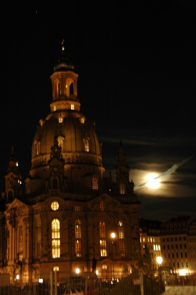 Frauenkirche in Moonlight - Dresden, Germany