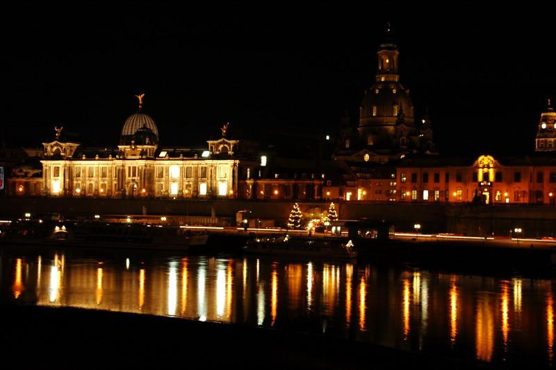Albertinum and Frauenkirche at Night - Dresden, Germany