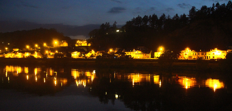 Trier Germany, Night View on the Moselle