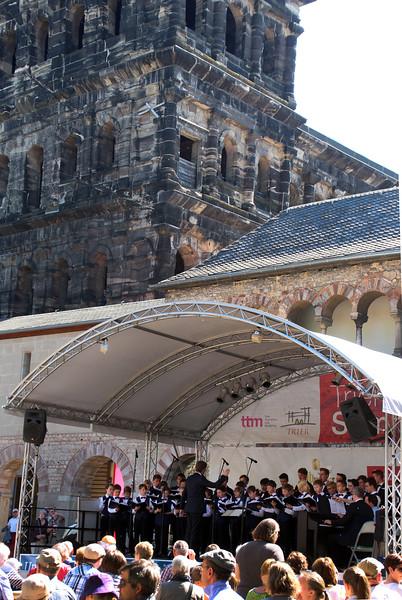 Trier Germany, Concert beneath the Porta Nigra
