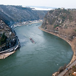 Rhine River near Lorelei, Germany