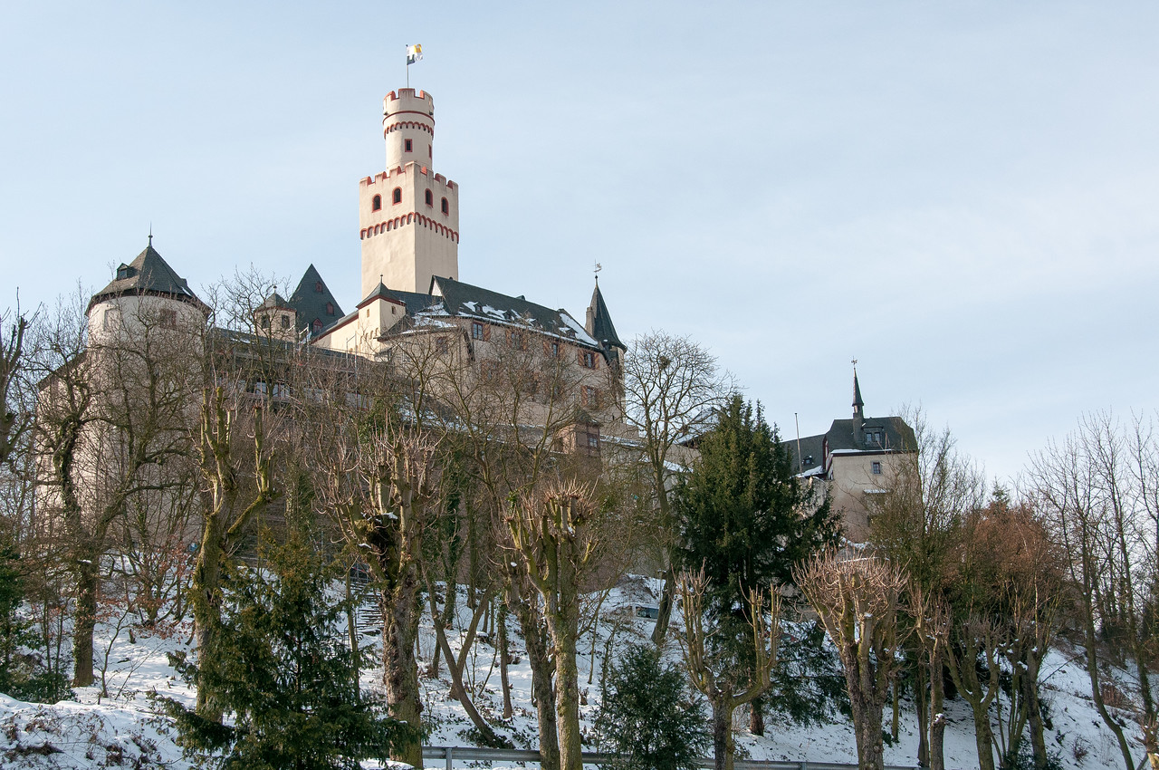 Beautiful castle at the Upper Middle Rhine Valley in Germany